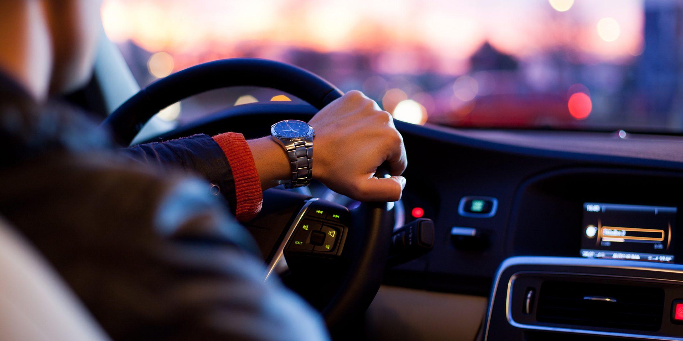 Mørkekjøring bil